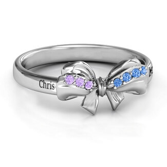 Bow designer wedding rings for women