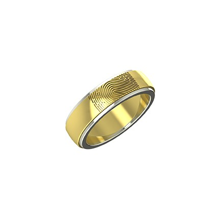two tone wedding bands his and hers in white and yellow gold