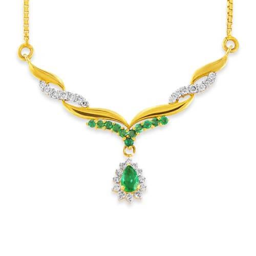 Emerald Mangalsutra designs