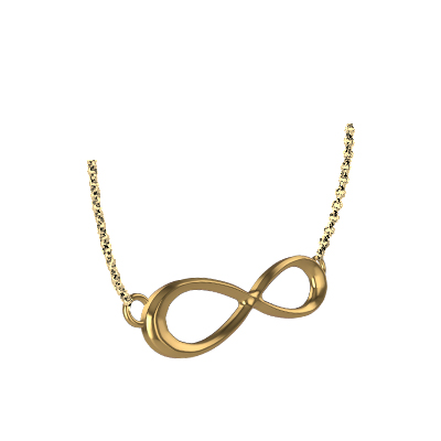 Gold Infinity Locket Pendant (2)