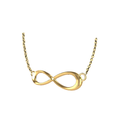 Gold Infinity Locket Pendant (3)