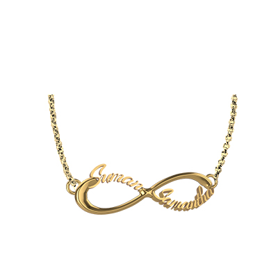 Gold infinity pendant with name augrav personalized gold infinity pendant with name 1 mozeypictures Gallery
