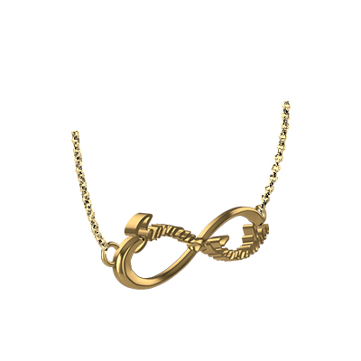 Gold Infinity Pendant With Name (3)