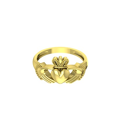 Yellow gold irish claddagh wedding rings . You can also customize with white gold