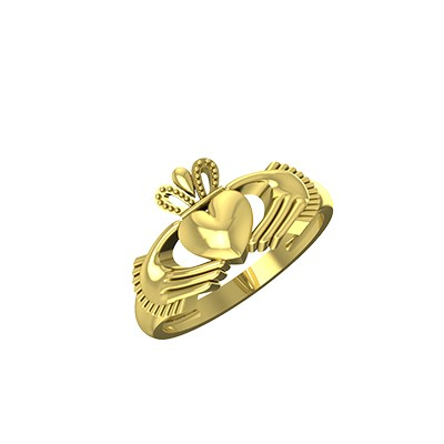Gold Irish Claddagh Ring For Wedding and Engagement