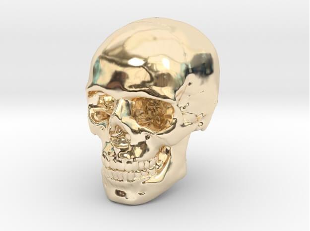 Human Skull 3D printed earring