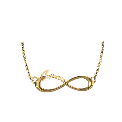 One Direction Infinity Pendant In Gold (2)