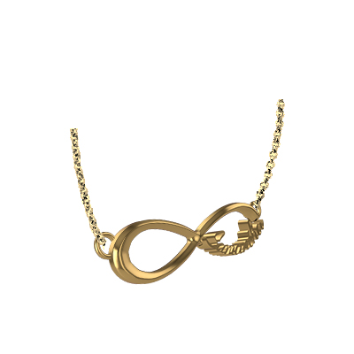 One Direction Infinity Pendant In Gold (3)