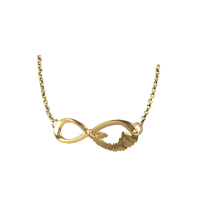 One Direction Infinity Pendant In Gold (4)