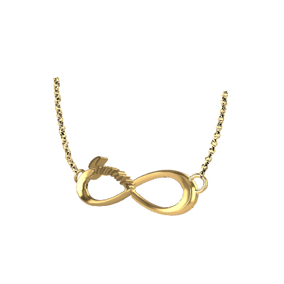 One Direction Infinity Pendant In Gold (5)