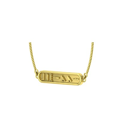 Buy personalized cartouche necklace/pendant India. You name will be converted as symbols
