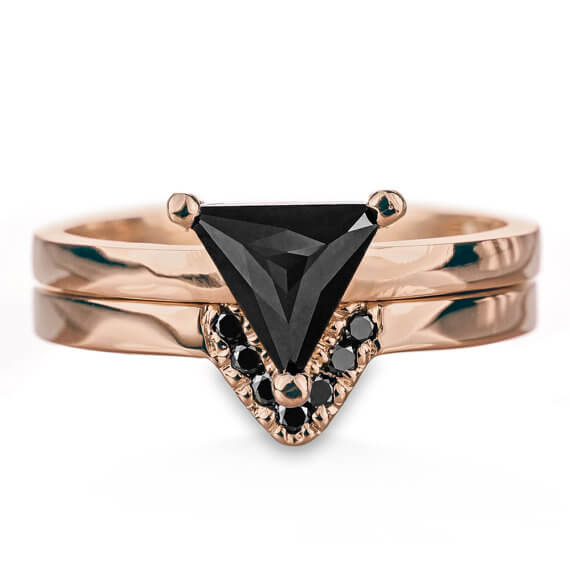 Triangle womens Diamond Ring