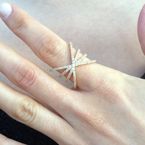 X Criss Cross Ring- womens ring designs