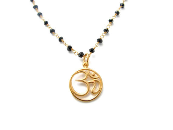 Yoga Jewelry Mangulsutra OM Gold necklace -