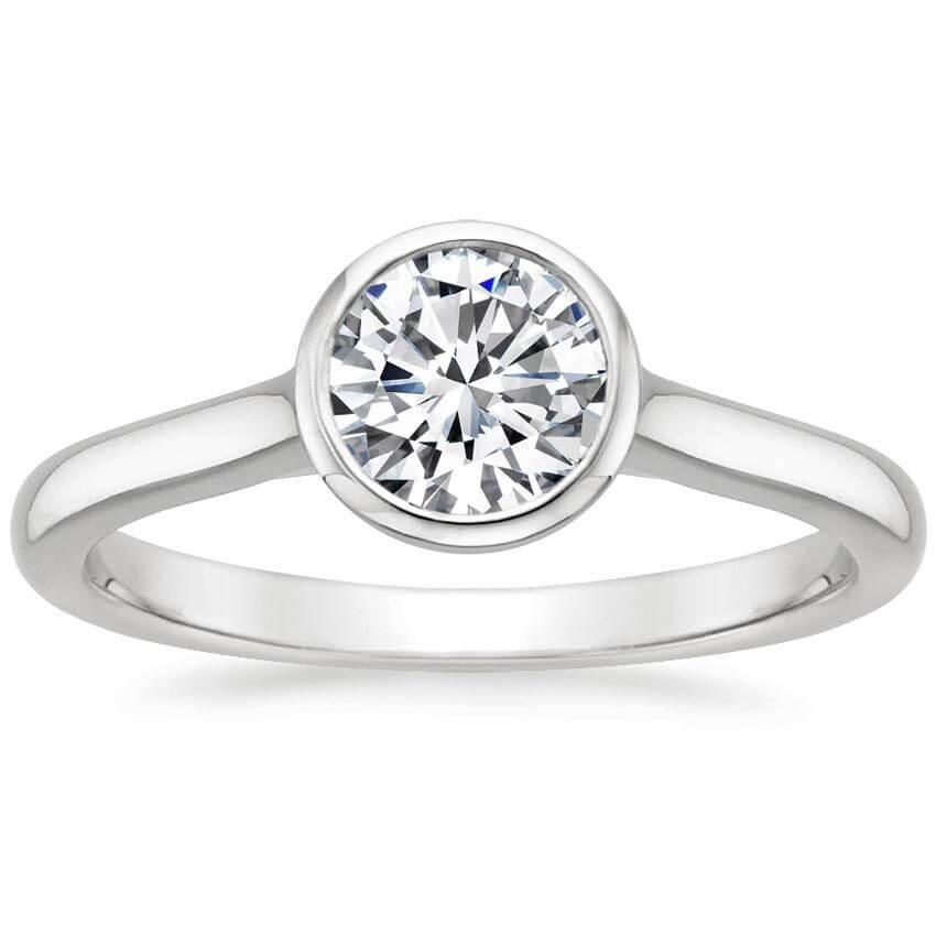 Bazel setting diamond ring