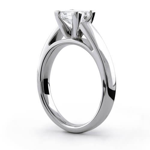 Cathedral setting wedding ring