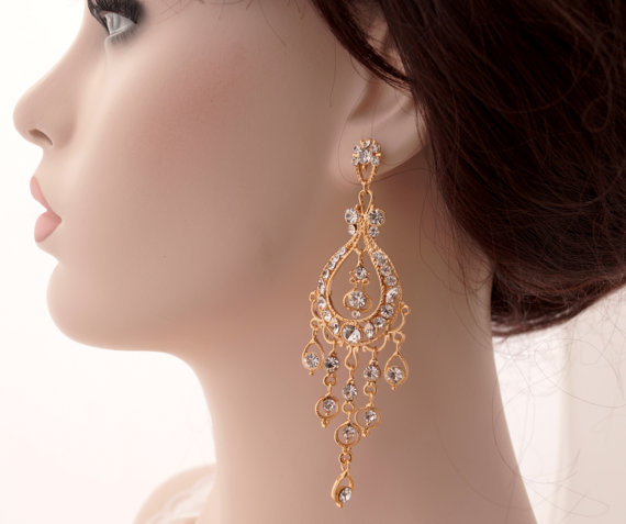 Chandeliers Earrings gold
