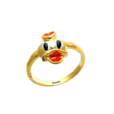 Duck Ring For Kids With Name AuGrav