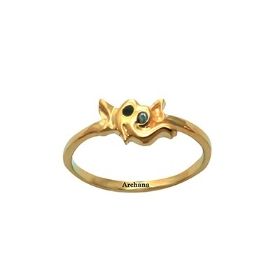 Elephant Gold Ring For Babies AuGrav