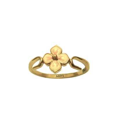 Flower Gold Ring For Baby Girl