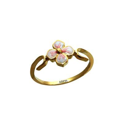 Flower Gold Ring For Baby Girl AuGrav