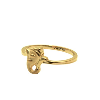 Ganesh Gold Baby Ring AuGrav