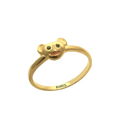 Gold Micky Mouse Ring For Childrens AuGrav