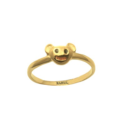 Gold Micky Mouse Ring For Childrens