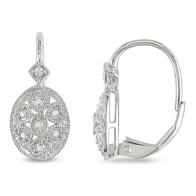 Lever back- Diamond Earring