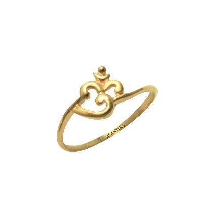 Om Kids Gold Ring AuGrav