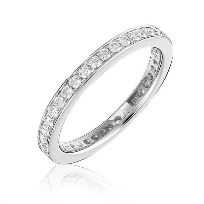 Pave setting wedding diamond ring