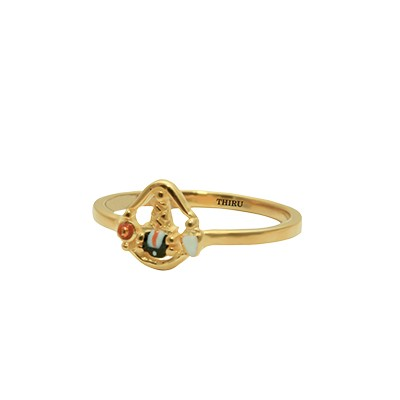 designs of gold rings for girls