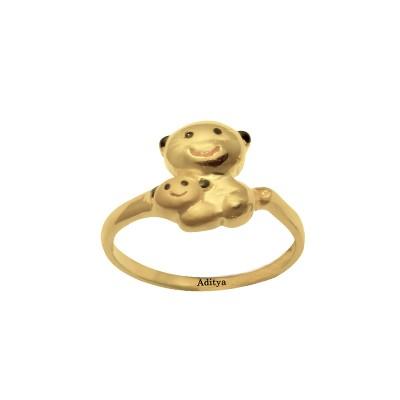 Teddy Gold Ring For Girls AuGrav