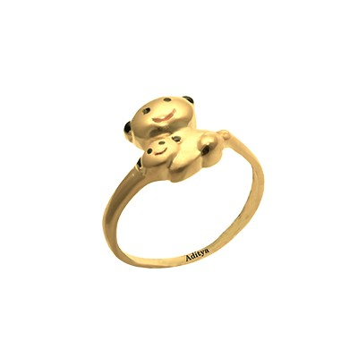 Teddy Gold Ring For Girls