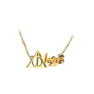 harry potter always doe necklace