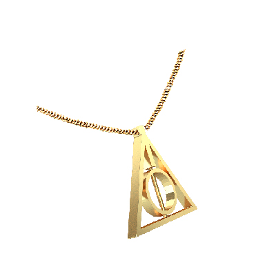 the deathly hallows symbol necklace