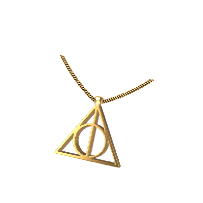 necklace deathly hallows