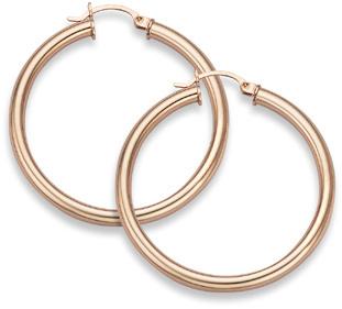 Yellow gold hoops earrings