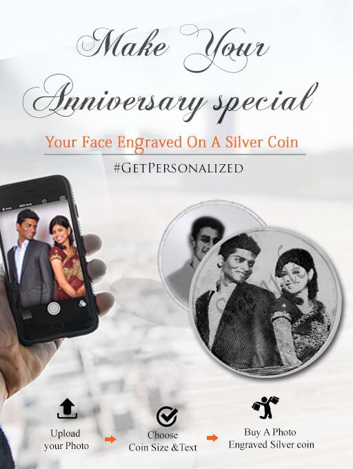 Customized Photo Engraved Silver Coin | Buy Wedding Silver Coins