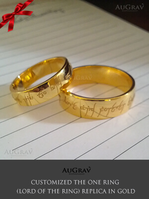 Lord Of the ring in gold desining Process, Ring From Lord of the Ring In Gold, Lord Of the ring replica In white gold