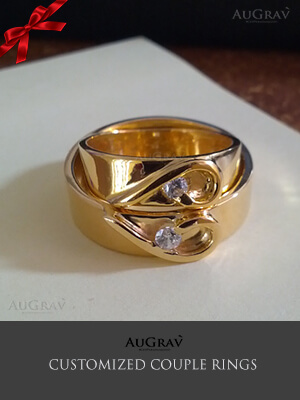 I Love You Couple Rings, claddagh gold rings for couples, Name Couple Ring Designs in Gold