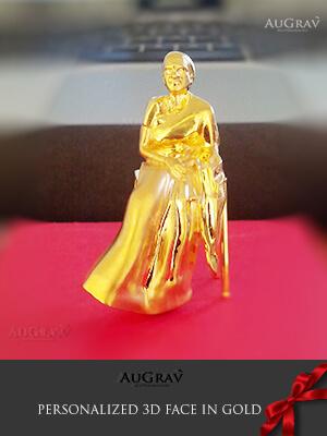 gold cartouche pendant
