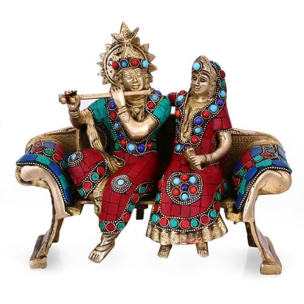 A religious showpiece (Radha Krishna)