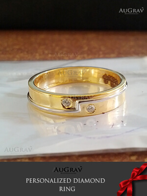 Wedding ring for bride with diamond