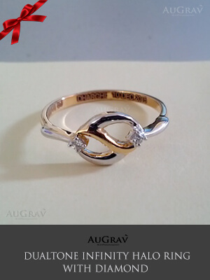 Dual Tone Infinity Gold Ring