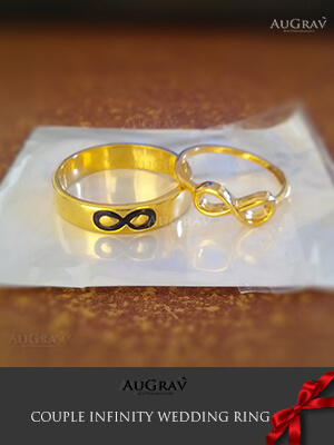 Dual Tone Infinity Gold Ring, Custom made ring with text