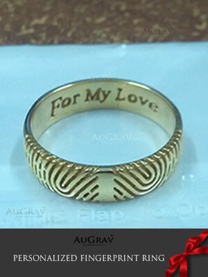 A Unique Wedding Ring With Fingerprint