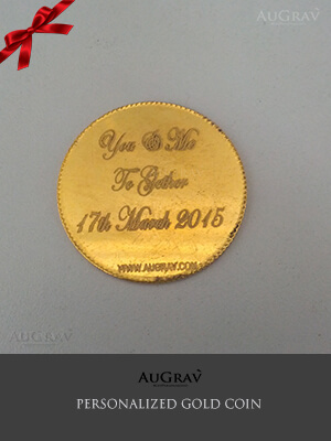 Personalized Gold Coins For Wedding Gift, A unique gold coin for wedding anniversary