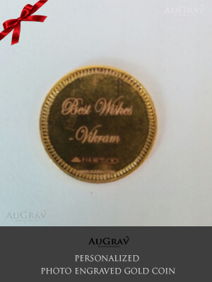 Engraved Gold Coin for Wedding Gift, Custom Printed Gold Coin