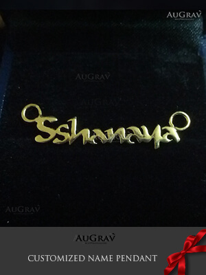Gold name pendant Designs, Necklace Pendant With Child's Name